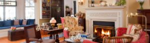 Afternoon tea by the fireside
